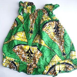 Baby Girl's Vintage Tribal Print Cotton Dress 6M